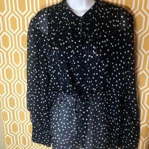 George polka dot blouse